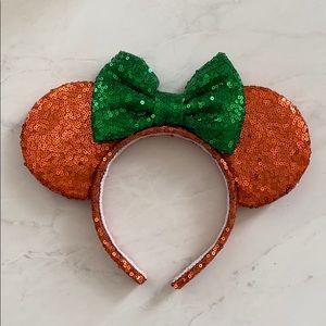 Orange and Green Minnie Ears!